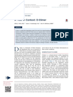 A Test in Context- D-Dimer