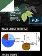 Spesies, Individu, Populasi Dalam Sistem Ekologi