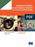 Information Disorder Toward an Interdisciplinary Framework