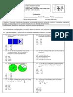 Evaluación Fracciones Sumas y Restas