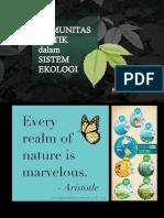 Komunitas Biotik Dalam Sistem Ekologi