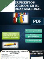 Instrumentos Psicológicos en El Área Organizacional