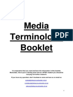 Media Terminology Booklet Btec