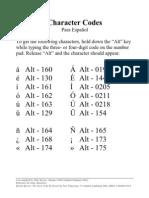 Alt Codes