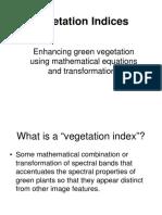 Vegetation Indicies