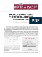 Social Security and the Federal Deficit