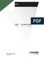 Waratah H290 Harvester