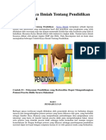 Contoh Karya Ilmiah Tentang Pendidikan Terbaru 2014
