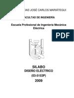 Silabus Diseño Eléctrico