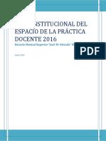 2016 Plan Institucional Espacio de La Practica 2016