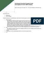 Planing Pokok Bahasan Koordinasi Persiapan Panitia