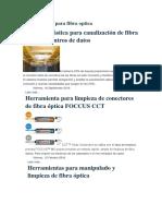 Herramientas Para Fibra Optica