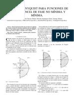 Nyquist Para Funciones de Fase Minima y No Minima