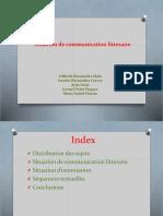 La Théorie Litteraire Situation de Communication Situation Denonciation Et Séquences Textuelles Version (