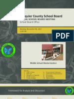 School board Middle School special meeting 110617