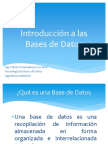 1. Introduccion a Las Bases de Datos