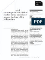Trends in Alcohol Consumption and Alcohol Related Harms in Norway Around the Turn of the Millennium