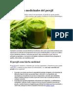 Propiedades Medicinales Del Perejil