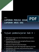 Laporan Posisi Keuangan Dan Laporan Arus Kas Bab 4 Presentasi