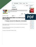 (Aporte Mejorado) Saber Si Tu Samsung Galaxy S4 Es Original