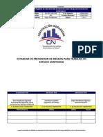 SGI-EST-V01-014 - Estandar de Prevencion de Riesgos Para Trabajos en Espacio Confiando