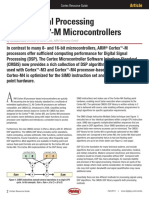 Digital Signal Processing With Cortex m Microcontrollers