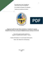 Propuesta de Modificacion Del Codigo Civil