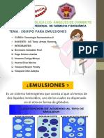 Equipos Para Emulsiones Diapositivas III Unidad