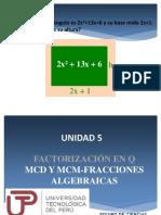 Algebra de Fraccion