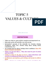 Topic 5 Values and Culture