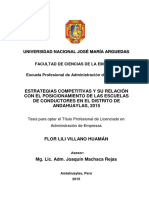 10-2015-EPAE-Villano Huaman-Estrategias Competitivas y Su Relacion Con El Posicionamiento