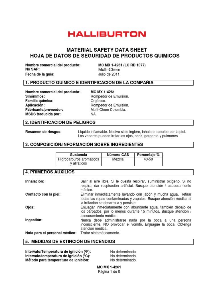 Moderno Plantilla De índice Msds Embellecimiento - Ejemplo De ...