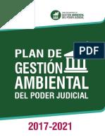 Plan de Gestión Ambiental del Poder Judicial 2017-2021