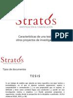 Características de Una Tesis y Otros Proyectos