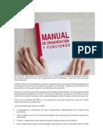 El Manual de Organización y Funciones