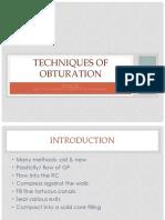 Obturation Techniques