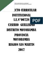 PROYECTO CURRICULAR INSTITUCIONAL I.E.N° 00728