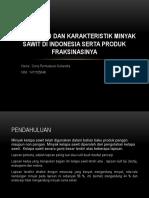 Kajian Mutu Dan Karakteristik Minyak Sawit Di Indonesia