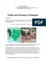 Origin and Meaning of Maiduguri