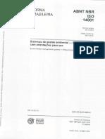 Abnt Nbr Iso 14001 - Sistemas de Gestao Ambiental - Requisitos Com Orientacoes Para Uso