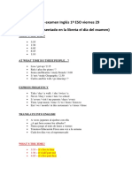Examen 1º ESO Inglés (1)