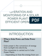 Operation and Monitoring of a Solar Power Plant 2