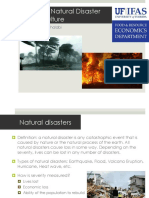 Natural Disasters and Agriculture