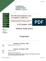9th IACC Programm