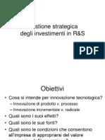 Lezione 6-Gestione Strategica e Concetto Di Innovazione