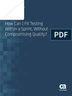 How Can I Fit Testing Within a Sprint Without Compromising Quality