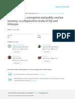 E-governance Corruption and Public Service Deliver
