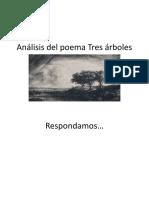 Análisis del poema Tres árboles 8°