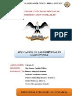 Aplicacion de La Derivada en La Economia11111