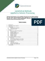 Geostatistics for Seismic Processing